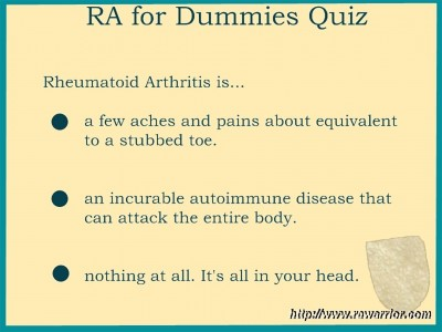 RA quiz for dummies