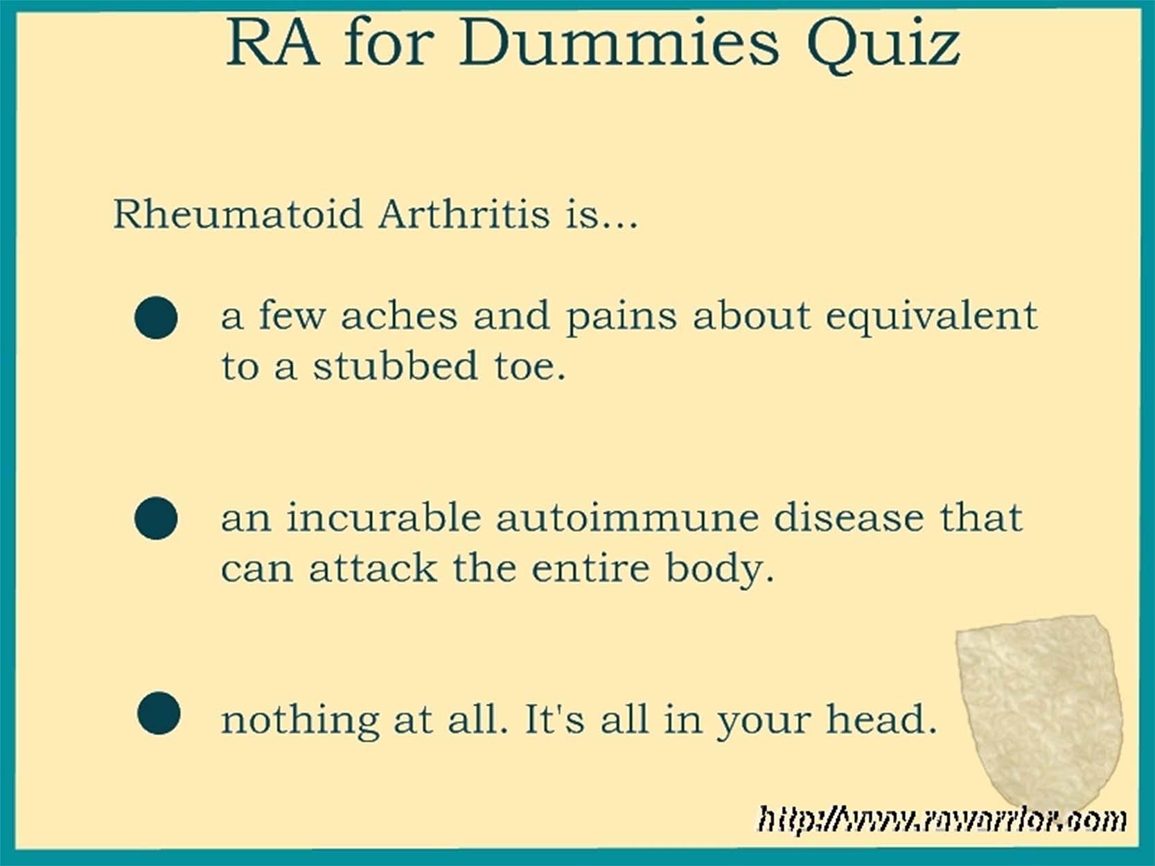 RA quiz for dummies