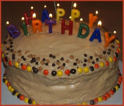 RA warrior blog birthday cake