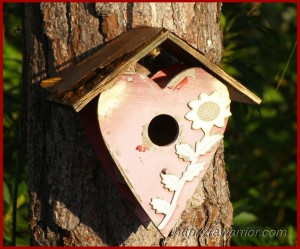 worn birdhouse