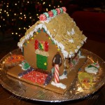 RA Warrior's gingerbread house front door