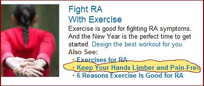 pain free RA hands