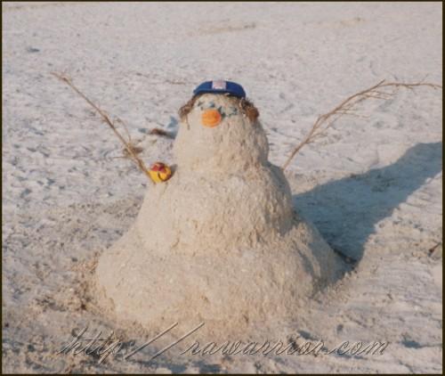 Florida sandman instead of snowman