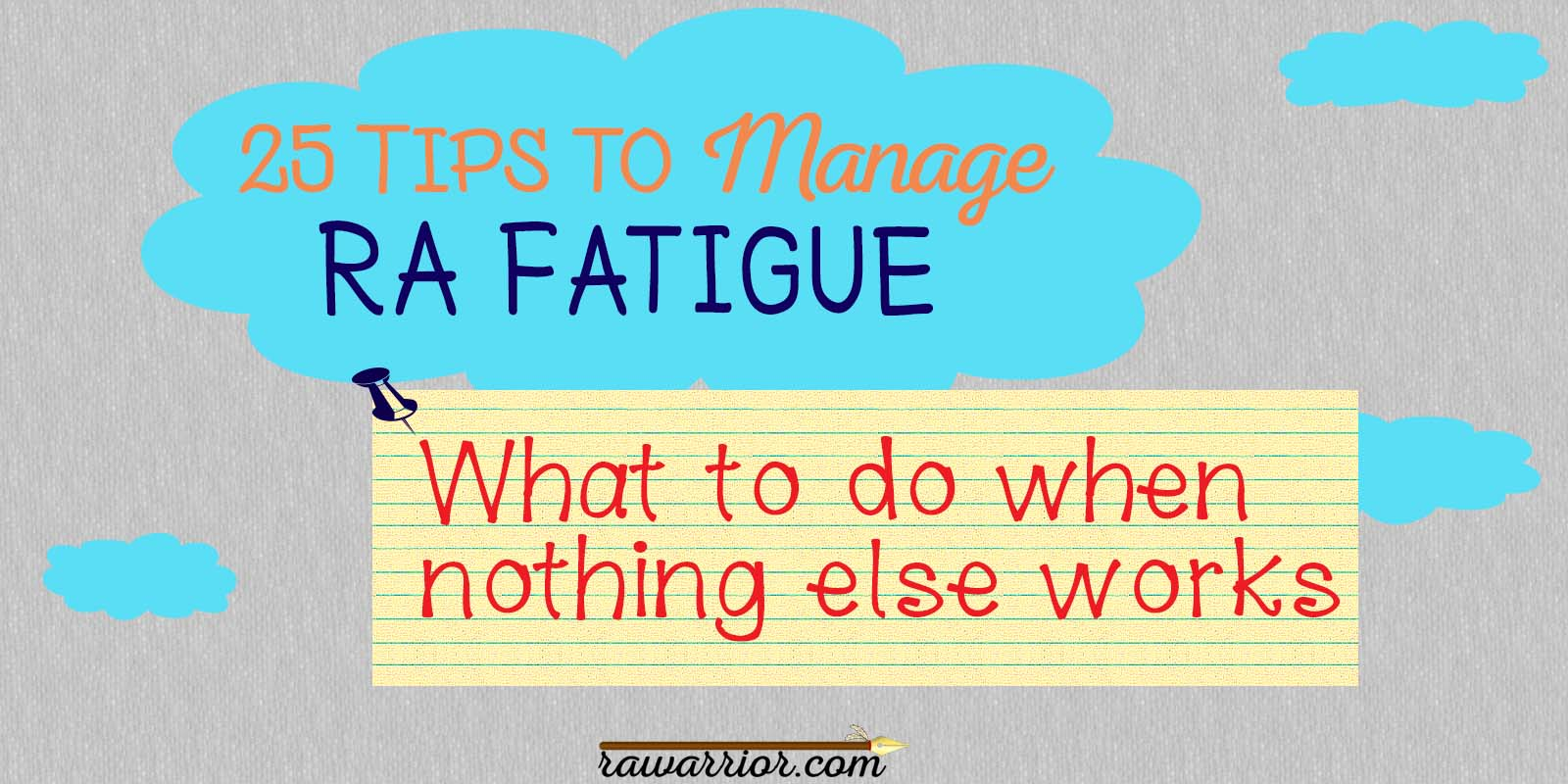 25 tips manage rheumatoid arthritis fatigue