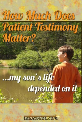 How much does patient testimony matter