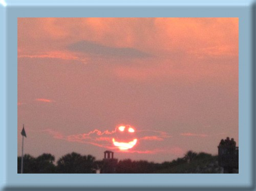 Sunset smiling