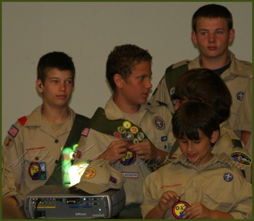 wrong way Boy Scout sash