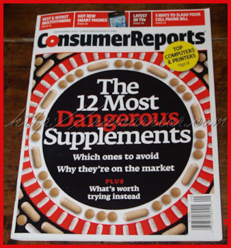 Consumer Reports' Dangerous Supplements cover