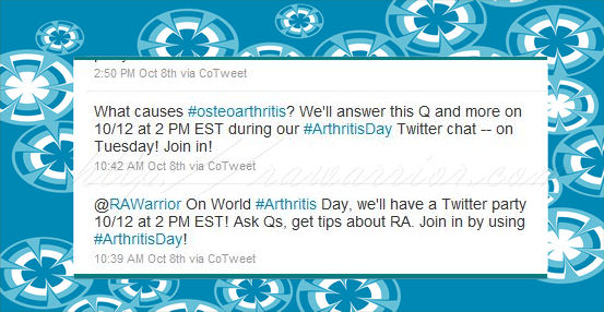 world arthritis day tweets
