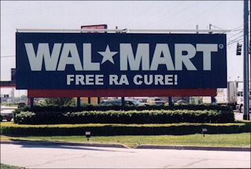 Walmart RA cure sign