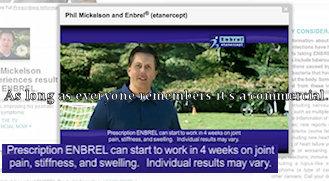 Phil Mickelson Enbrel ad