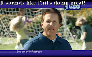 Screenshot of Phil Mickelson's Enbrel commercial