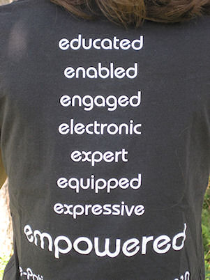Back of I am an epatient shirt