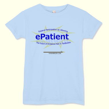 blue e-patient t-shirt
