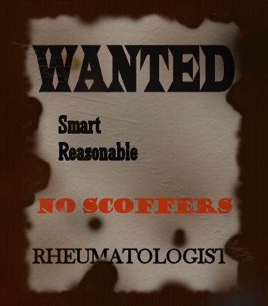 Wanted poster: rheumatologist
