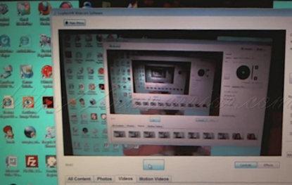 Reflection: webcam of laptop