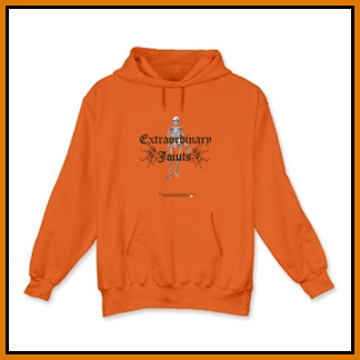 Orange skeleton hoodie