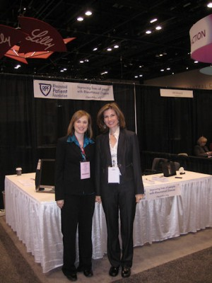 Dana and Kelly at RPF exhibit at ACR 2011