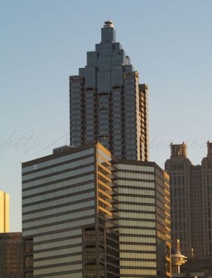 City sunset Atlanta
