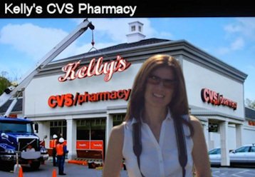 Kelly's CVS pharmacy sign
