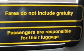 sign in cab