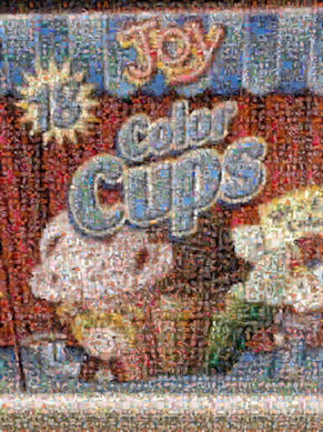 Joy color cups mosaic of RA patient pictures