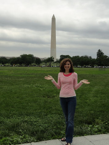 Kelly at Washington Monument