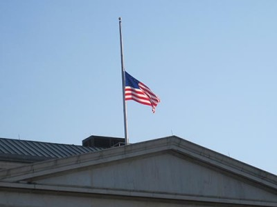 Half-mast flag over US Capitol Sept 11
