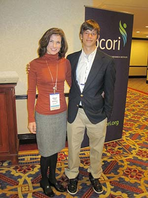 Kelly and son Tiger at PCORI workshop