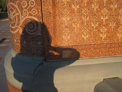 Kelly & camera shadow at US Capitol