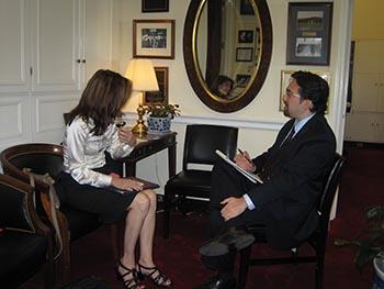 Kelly in Congressman Stearns' office