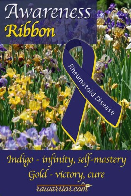 Awareness Ribbon for Rheumatoid Arthritis