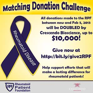 RPF Matching donation banner