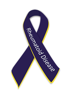 Rheumatoid disease awareness ribbon