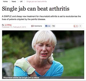 single jab beats arthritis screenshot