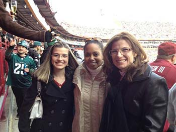 KB, Kelly & Donna at Redskins game