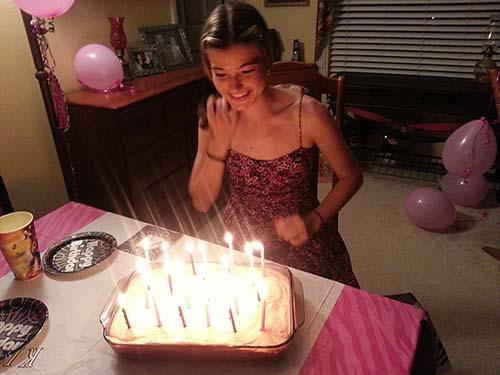 KB strawberry birthday cake