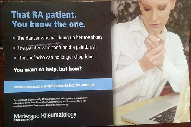 Medscape RA symposium advertisement ACR13