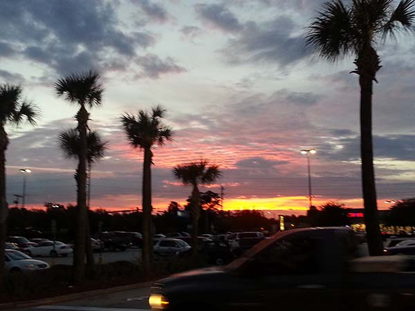 Sunset from WalMart