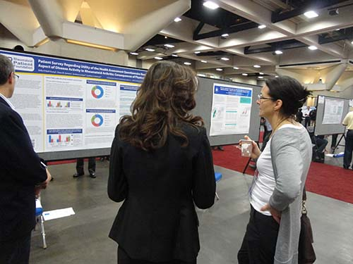 discussing RPF posters at ACR13