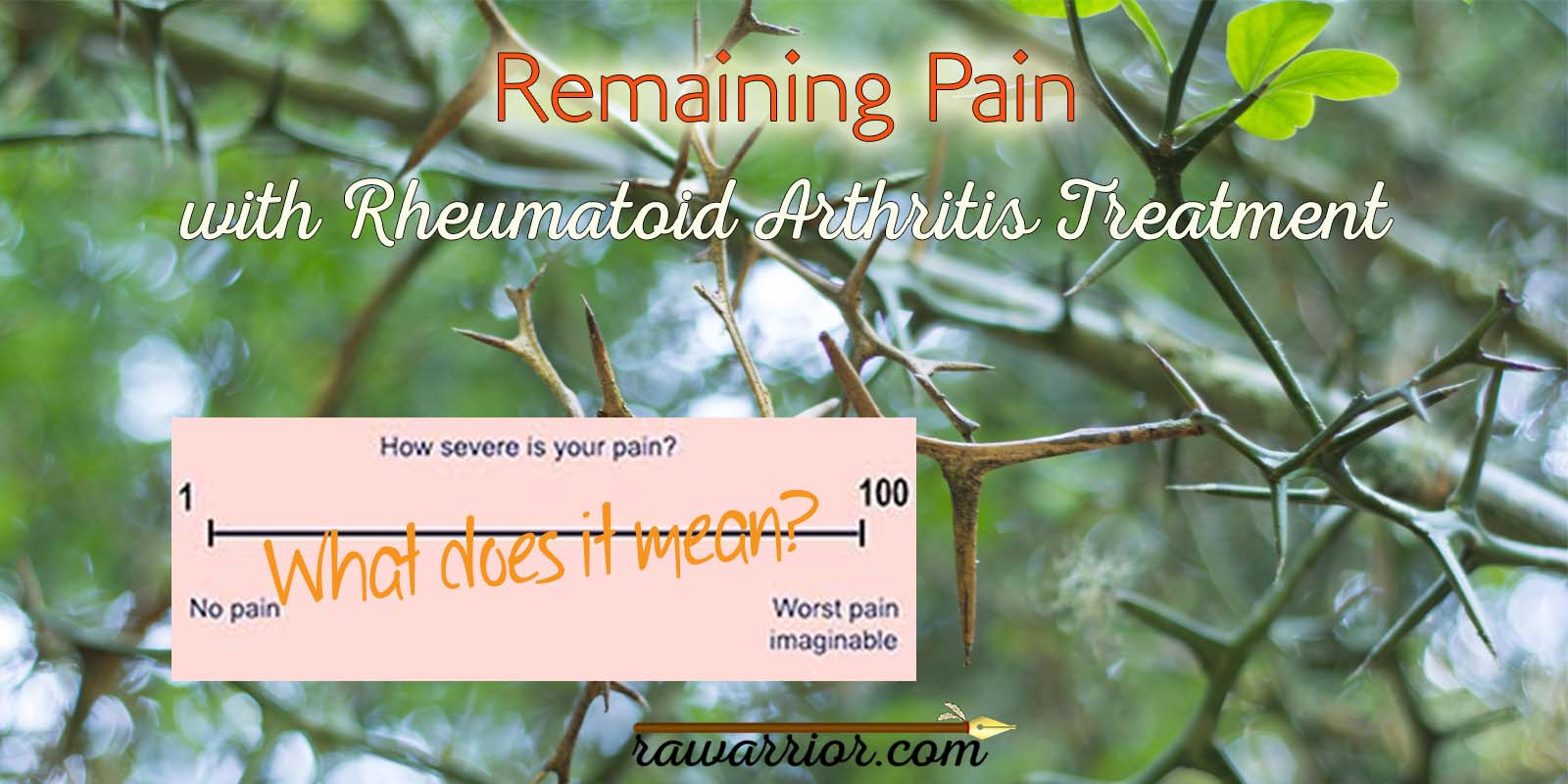 Remaining Pain with Rheumatoid Arthritis Treatment