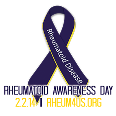 Rheumatoid Awareness Day ribbon