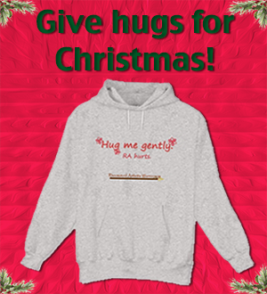 Hug me gently hoody in gray