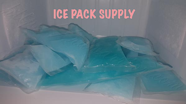 blue gel medical ice pack supply