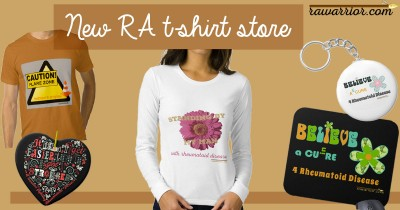 rheumatoid arthritis t-shirt, hoodies, mouse pads, key chains