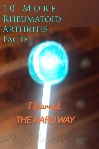 rheumatoid arthritis facts blue lollipop