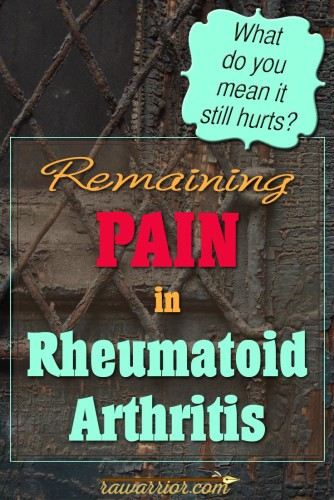 Remaining Pain in RA / RD