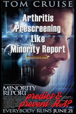 Arthritis Prescreening Like Minority Report