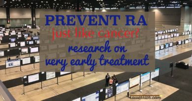 Prevent RA Just Like Cancer