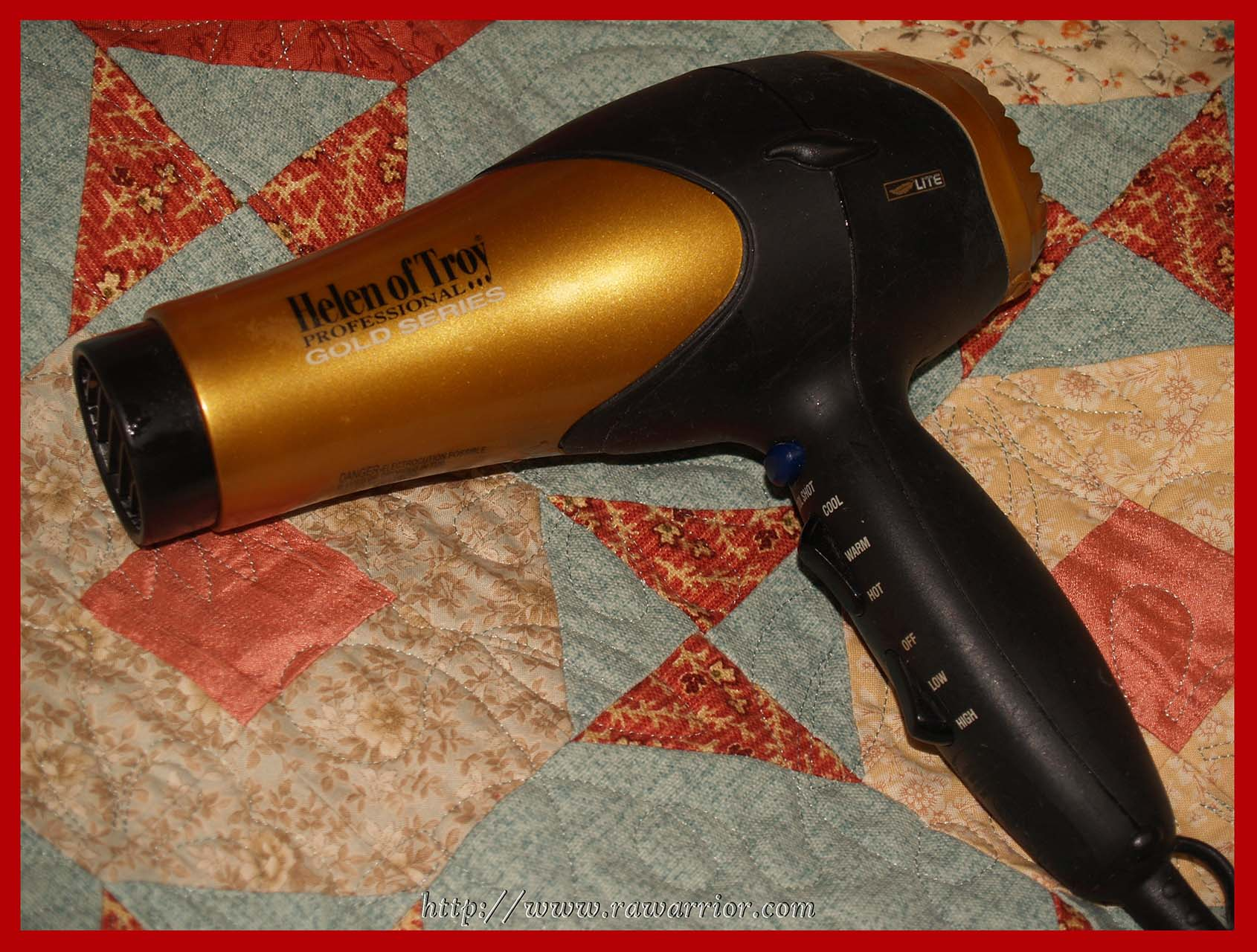 RA cured hair dryer